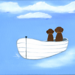 Best Friends - chocolate labs